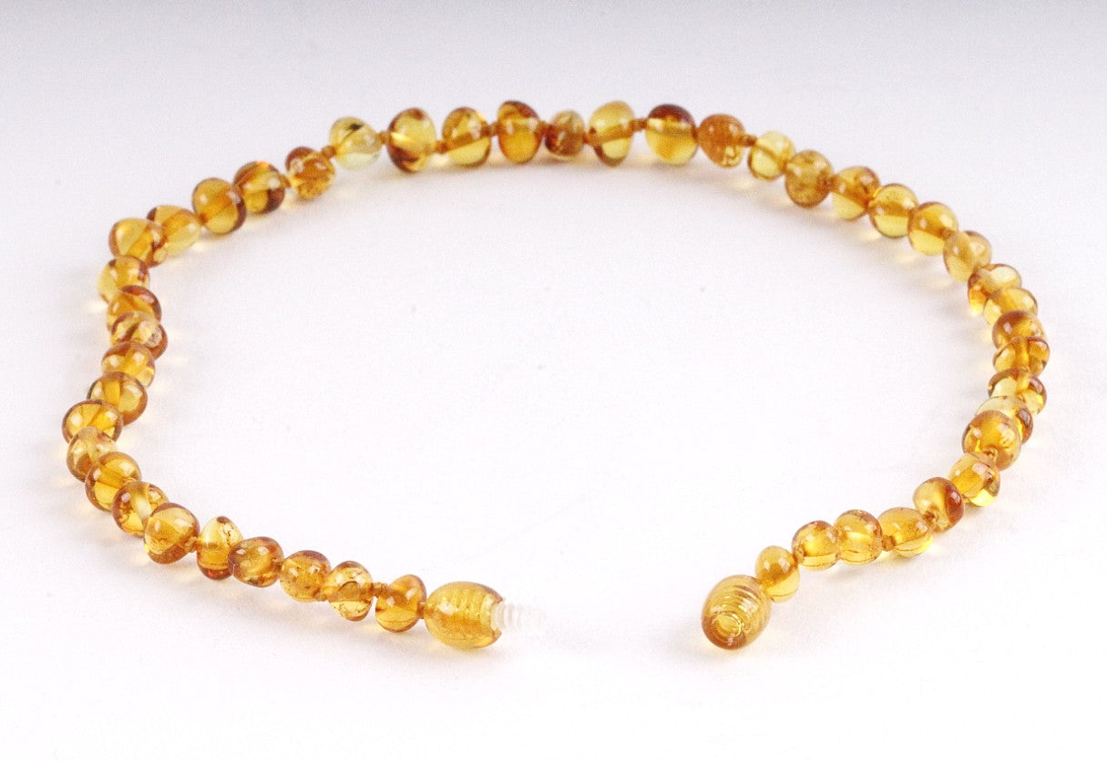 Honey Amber Necklace for Children