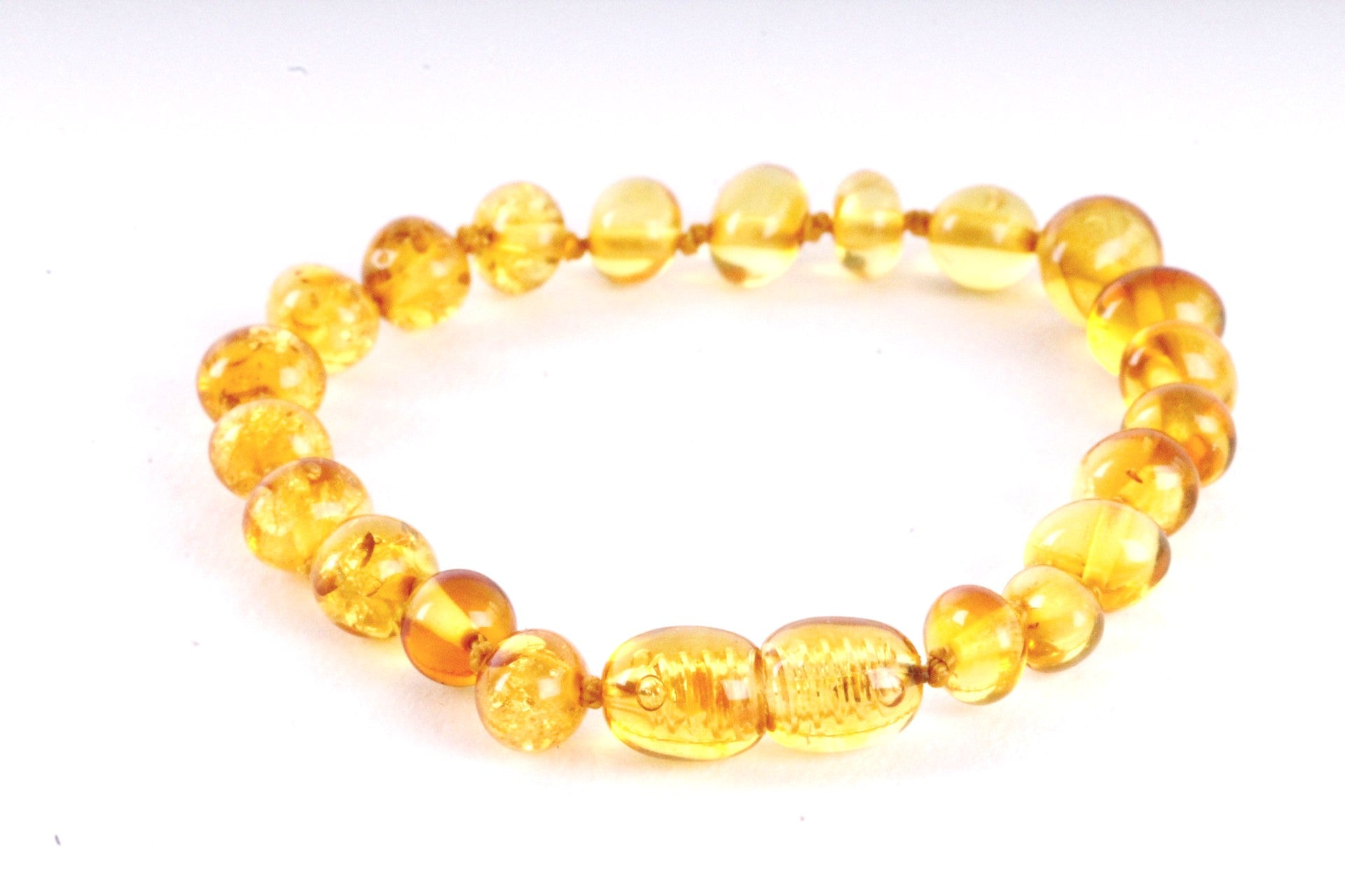 Amber Anklet Honey Beads Amber SOS