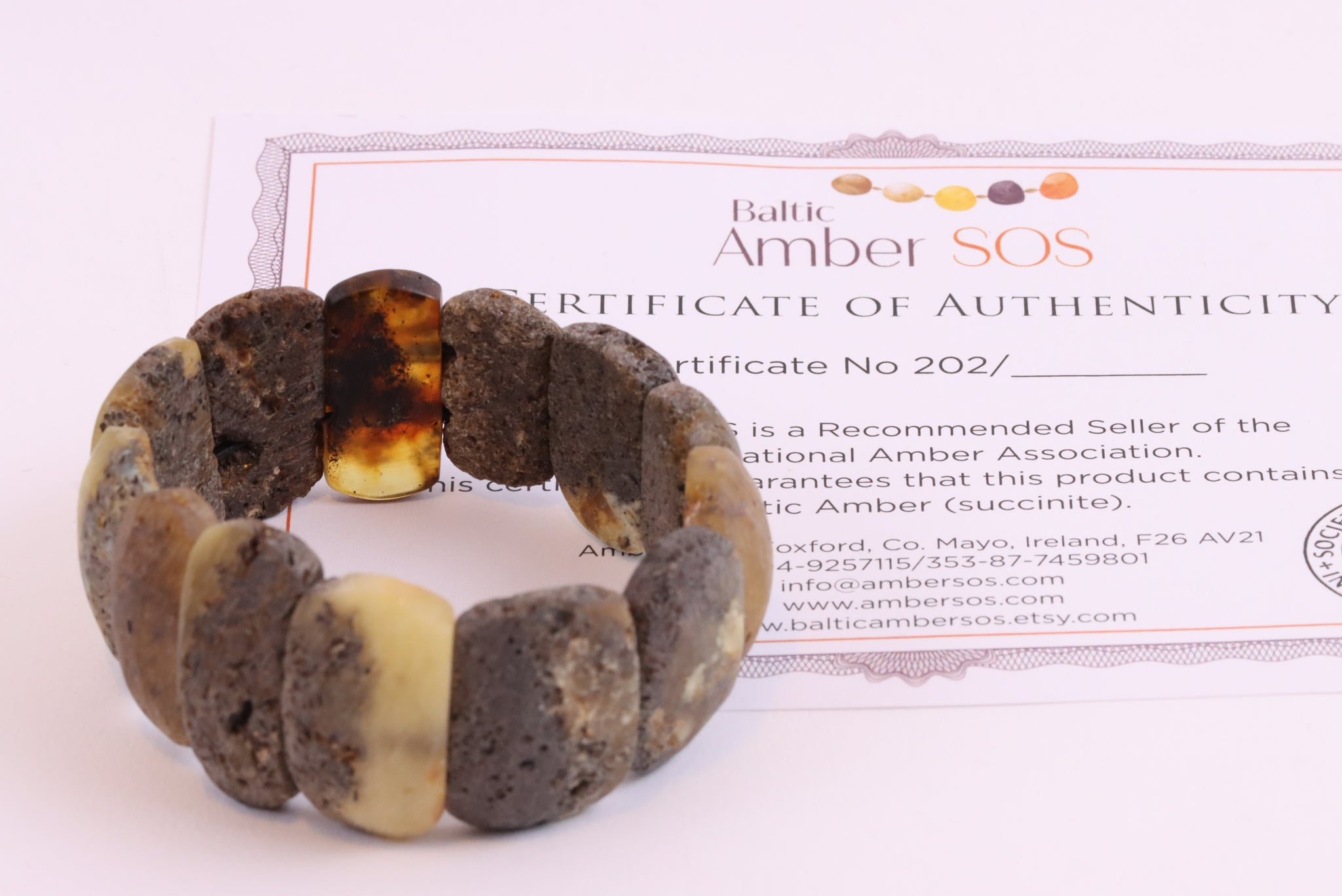 Raw Stone Natural Baltic Amber Bracelet