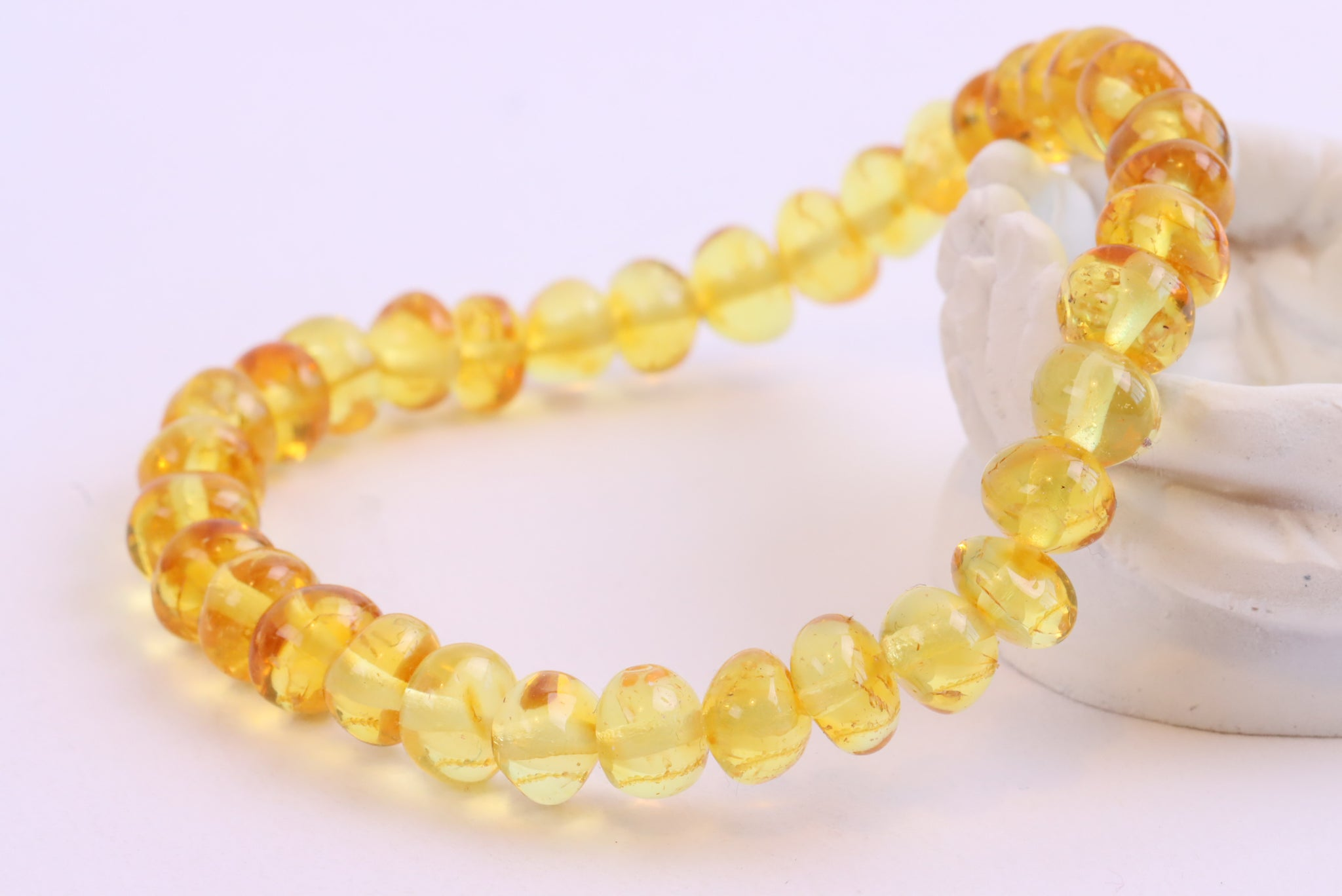 Light Honey Bead Amber Adult Bracelet