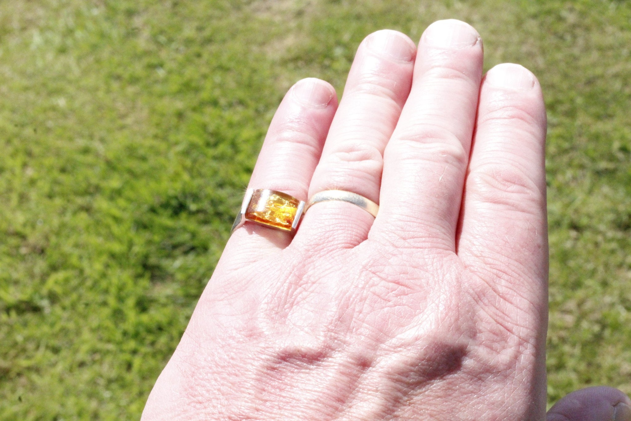 Honey Ring, Gents finger - Amber SOS