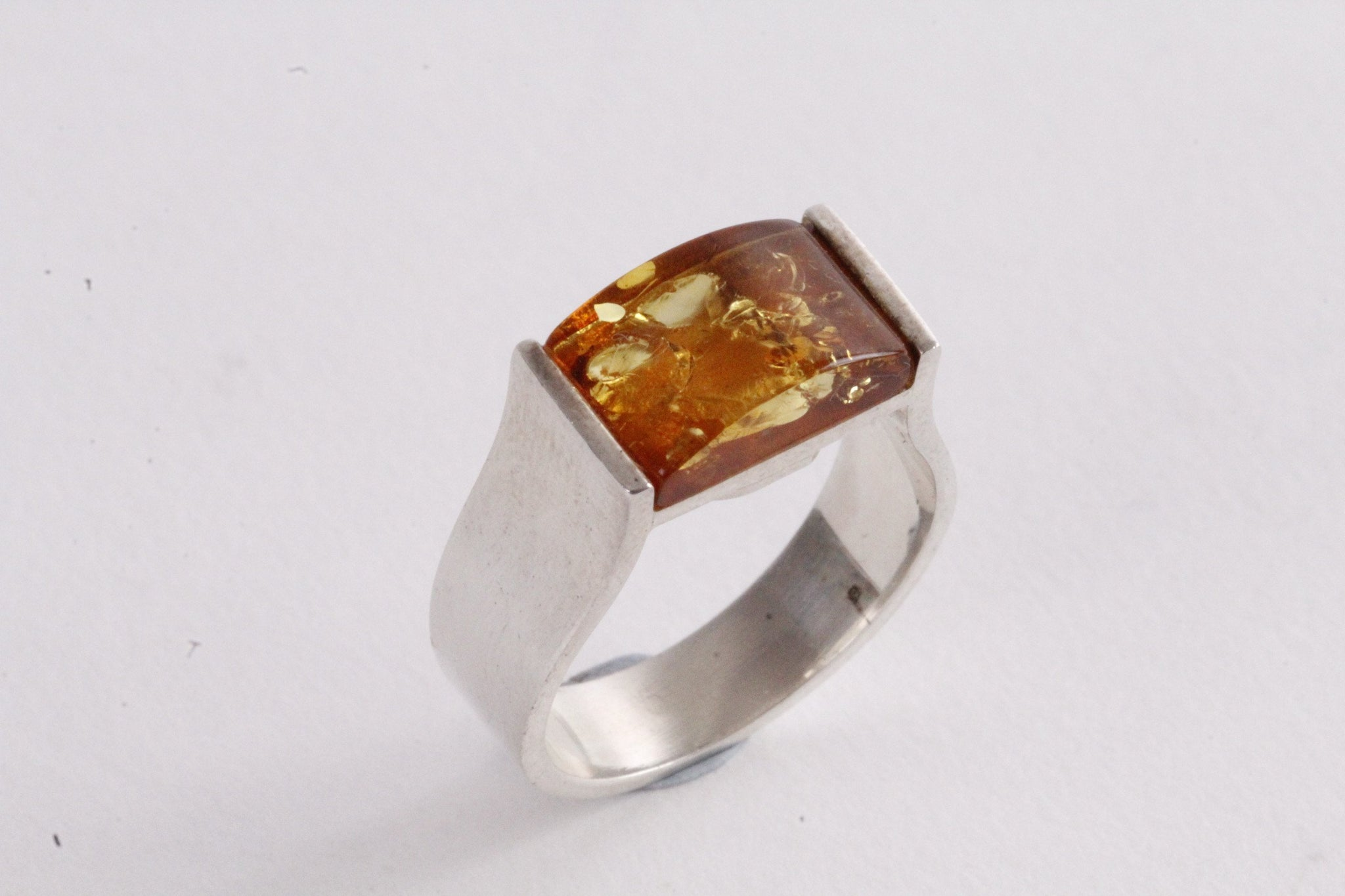 Honey Geometric Ring - Amber SOS