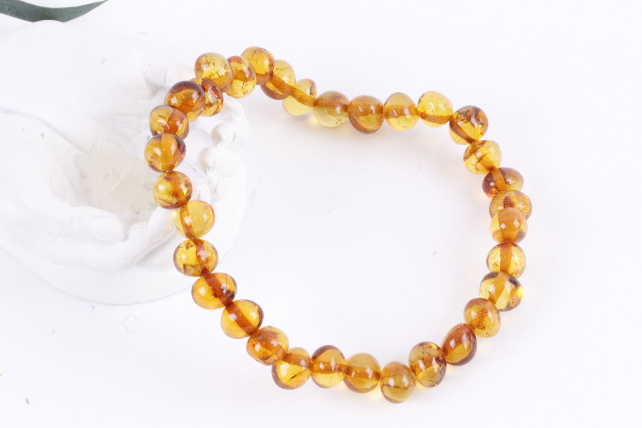 Honey Bead Amber Adult Bracelet