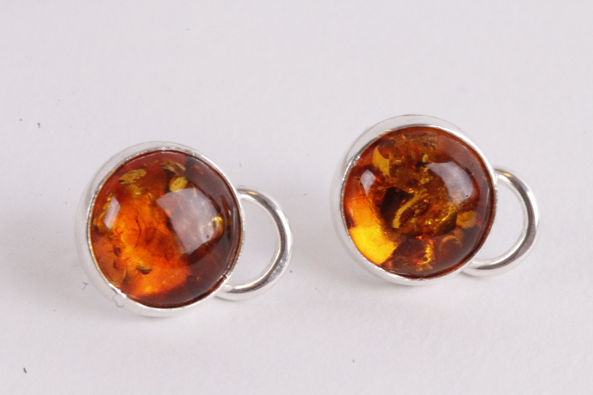 Honey Gemstone Clip On Earrings
