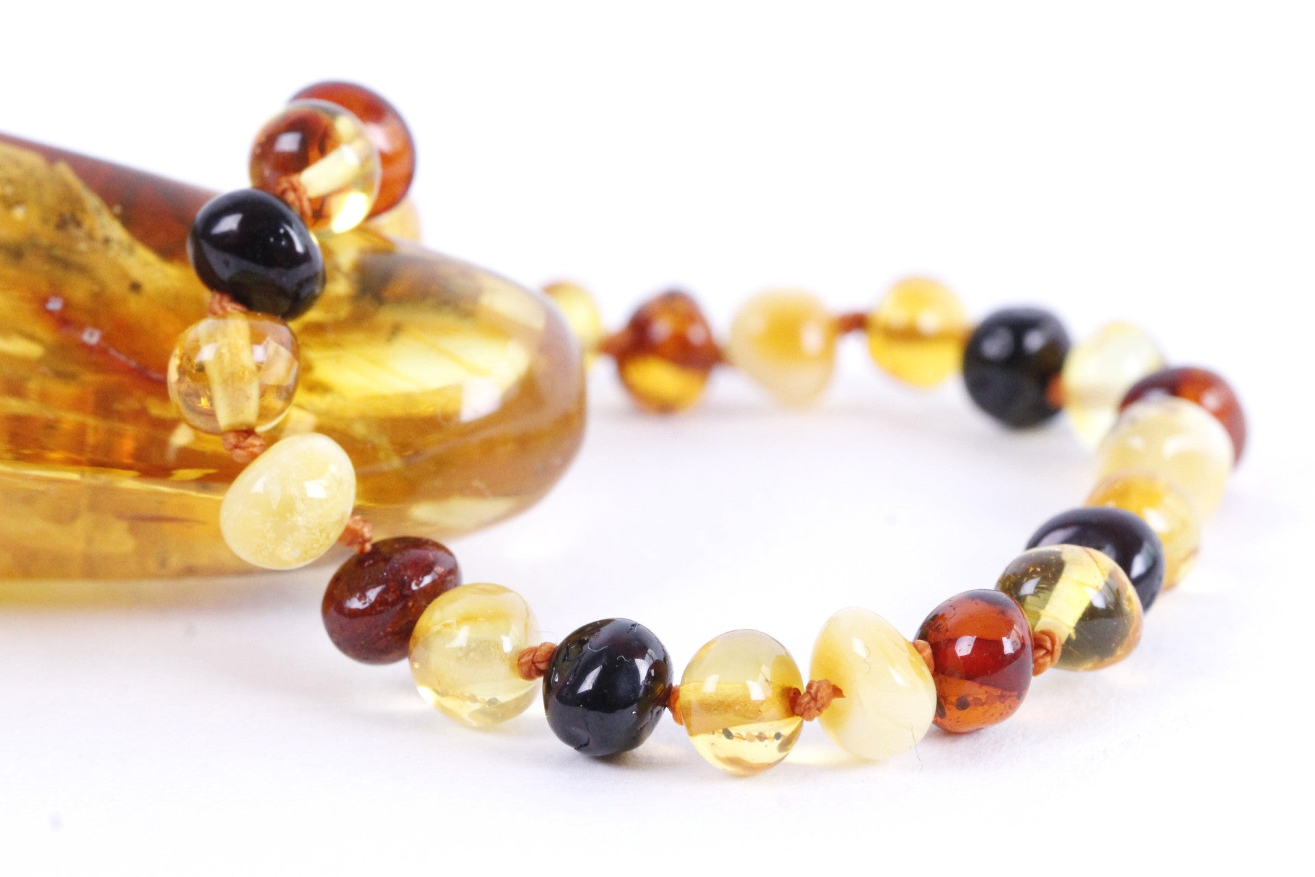 Mixed Amber Anklet for Children