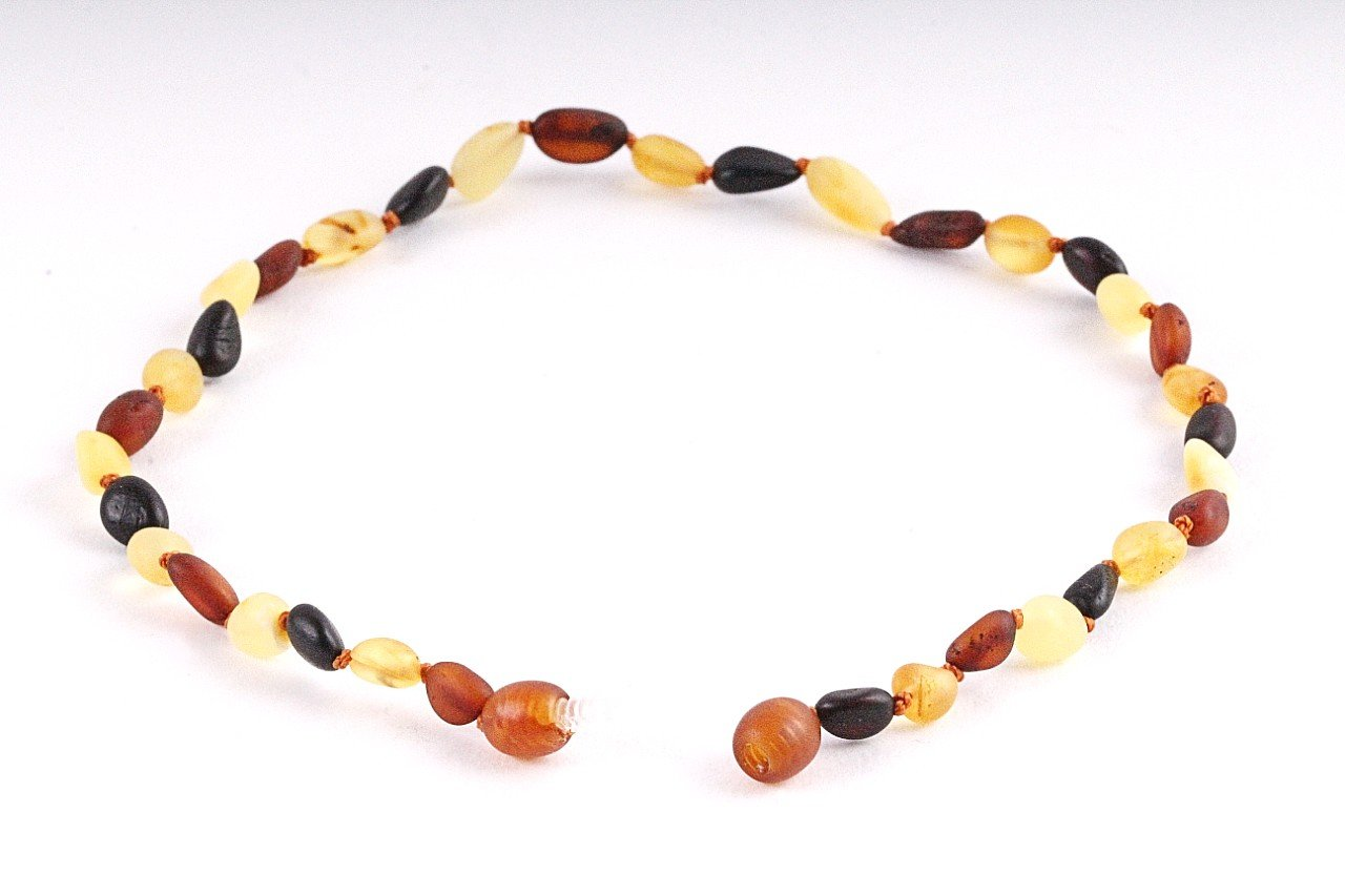 Matt Natural Amber Necklace for Children - Amber SOS