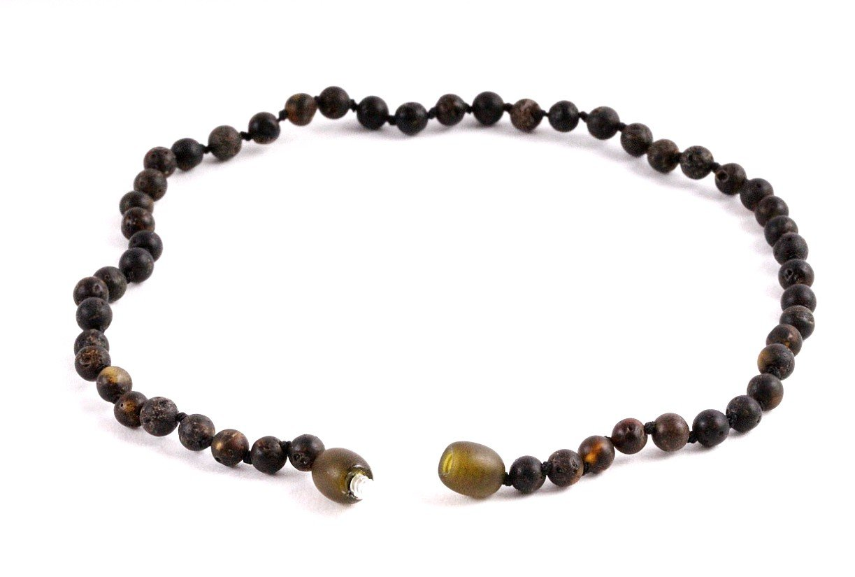 Matt Round Necklace for Children - Amber SOS