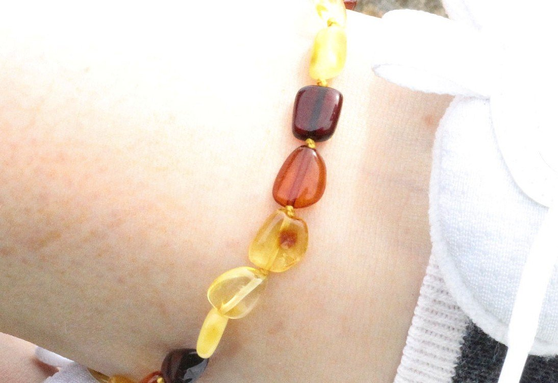 Mixed Bean Adult Anklet - Amber SOS