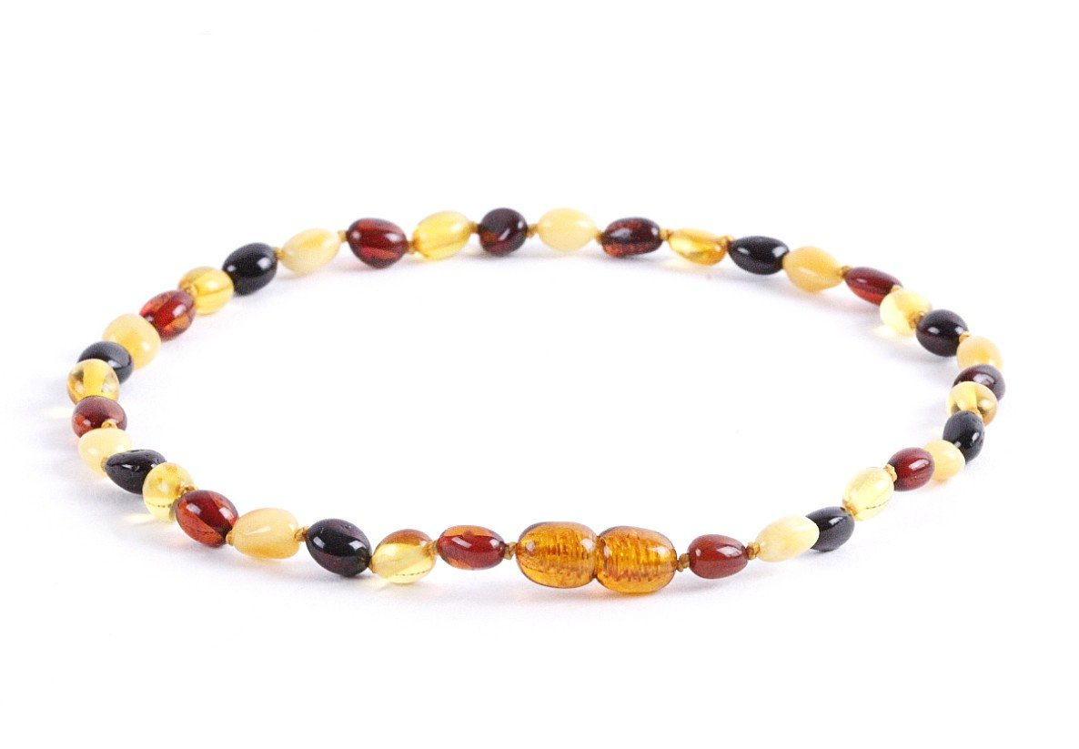 Mixed  Bean Amber Necklace for Children - Amber SOS