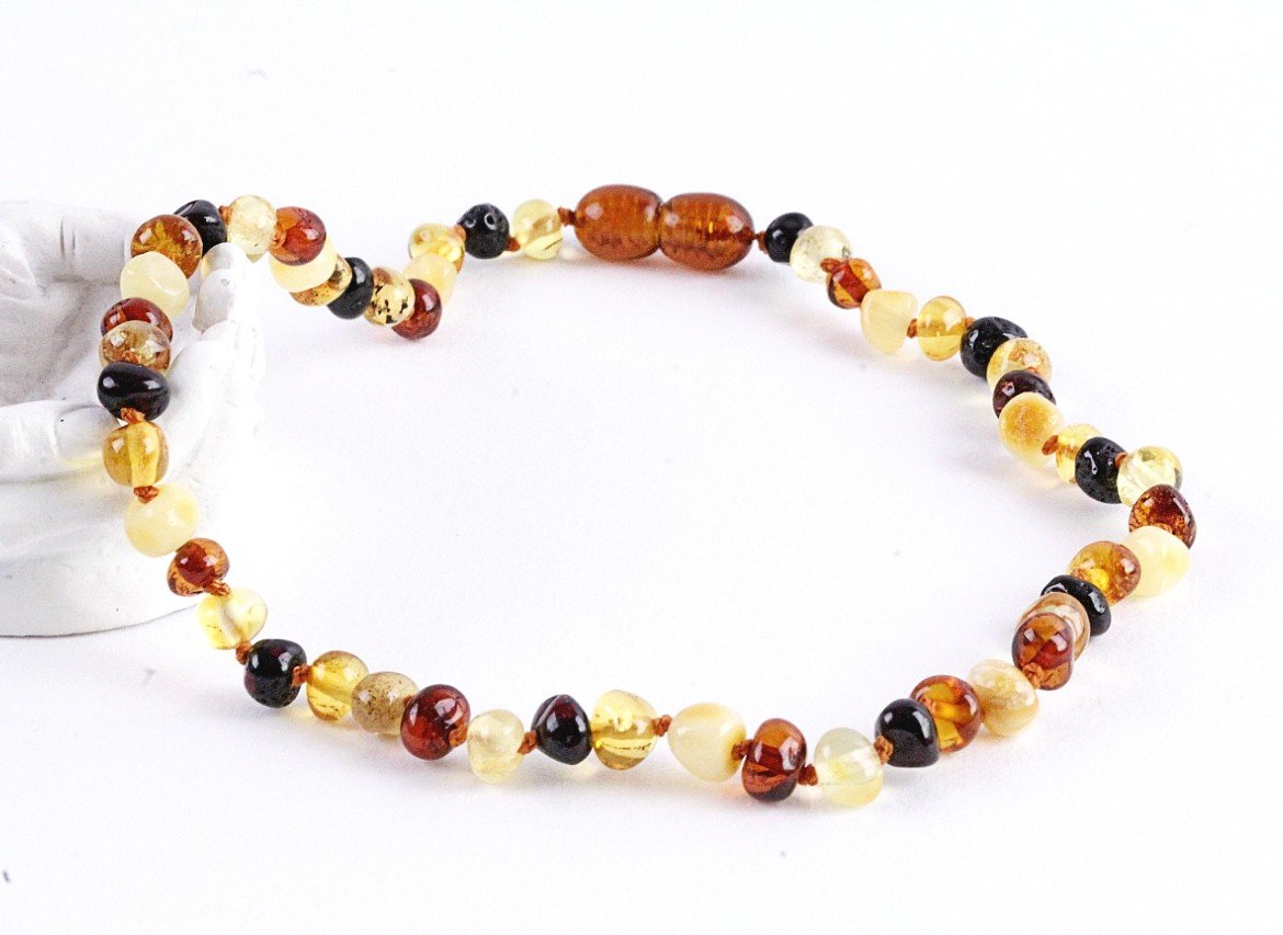 Mixed Round Amber Necklace for Children - Amber SOS
