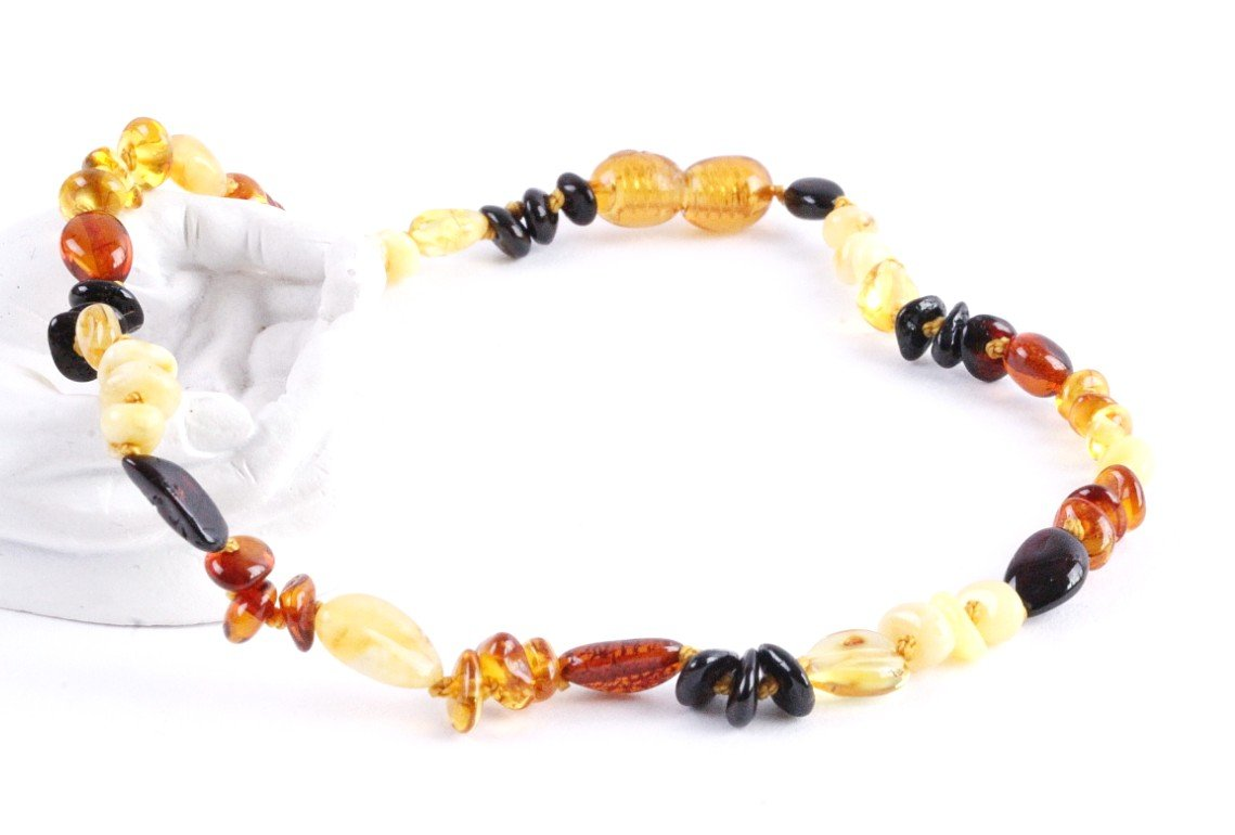 Multi Bead Amber Necklace - Amber SOS