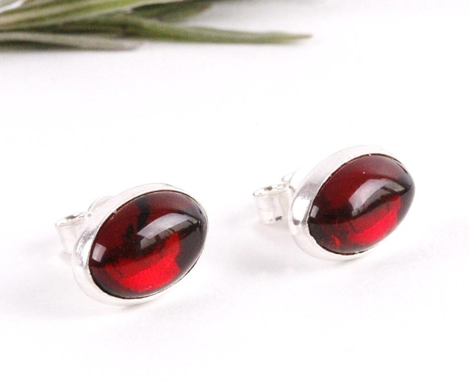 Oval Cherry Earrings - Amber SOS