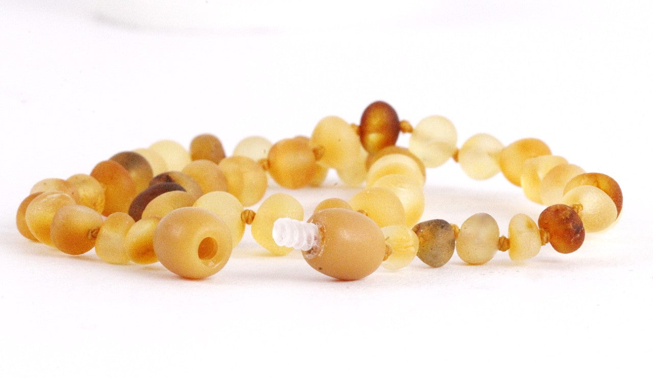Raw Amber Necklace - 28 cm