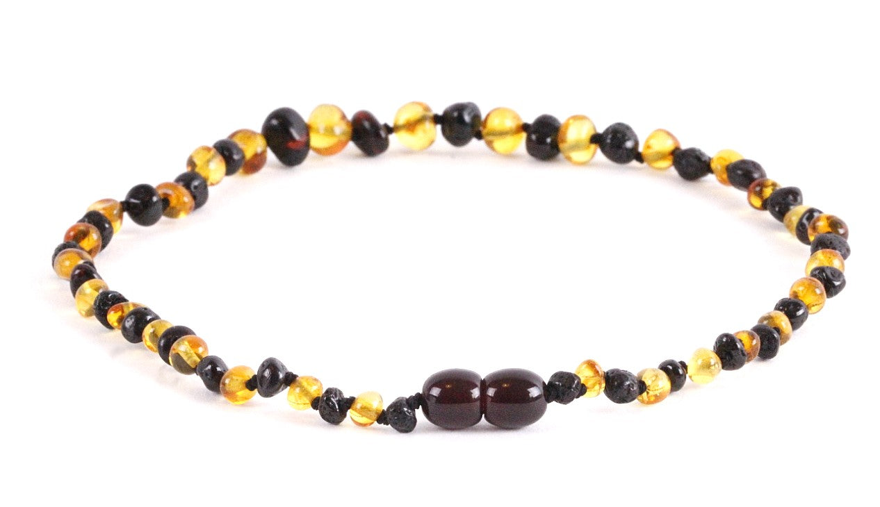 Friday Special Yellow and Cherry Amber Necklace
