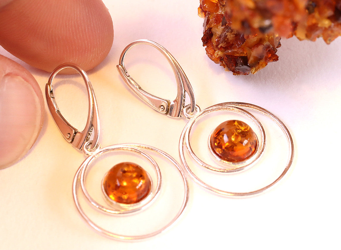 Christmas Gift Amber Earrings