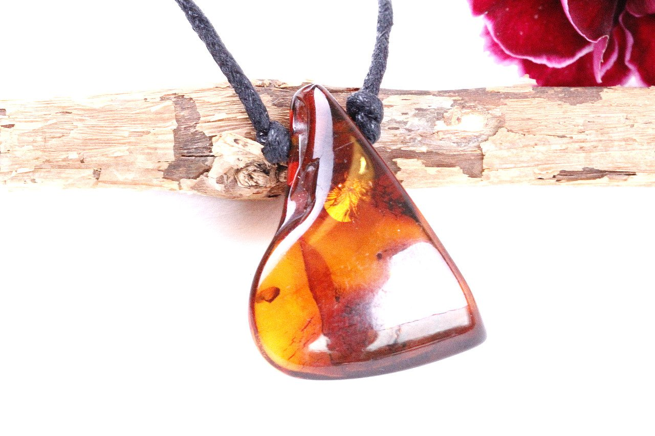 Natural Jewelry Amulet - Amber SOS