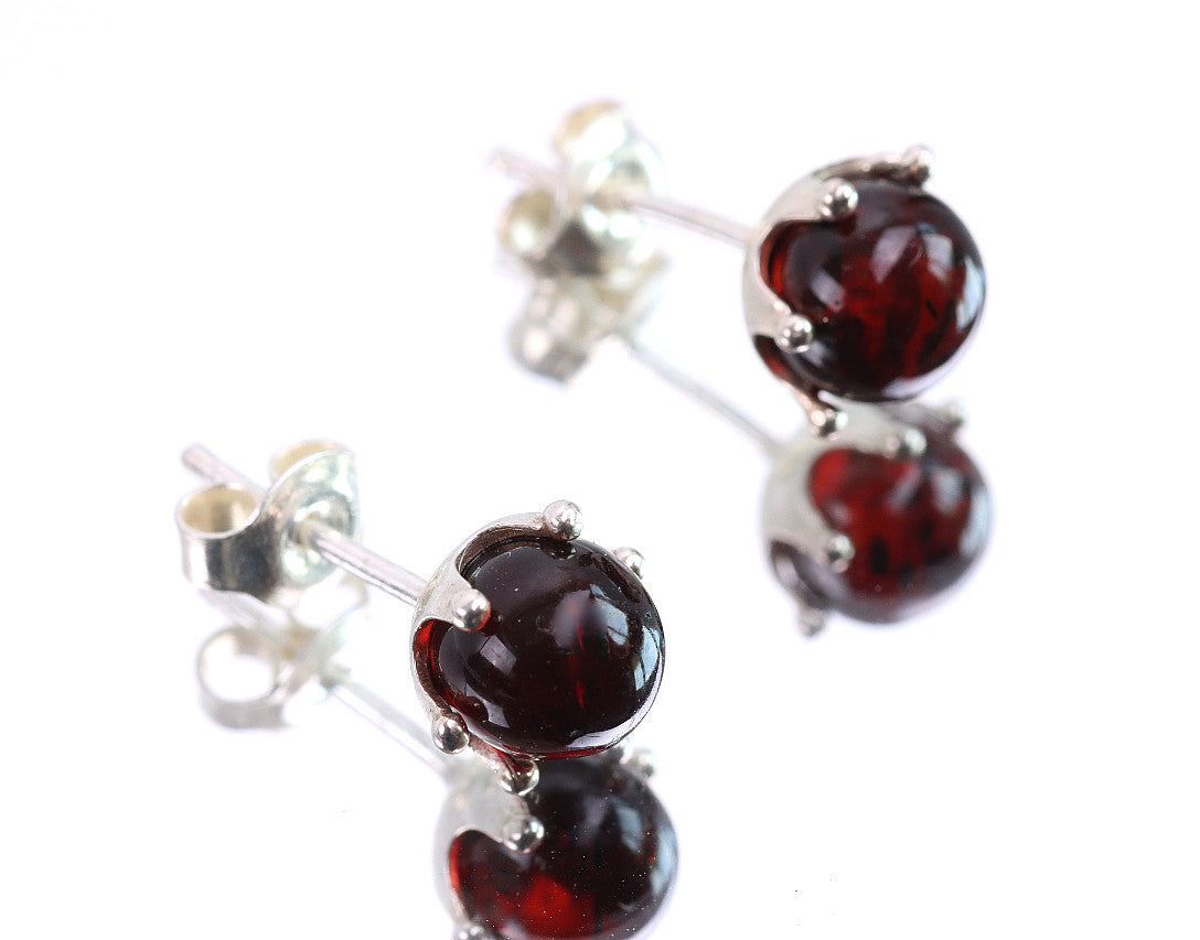 Sale Sale Cherry Stud Amber Earrings