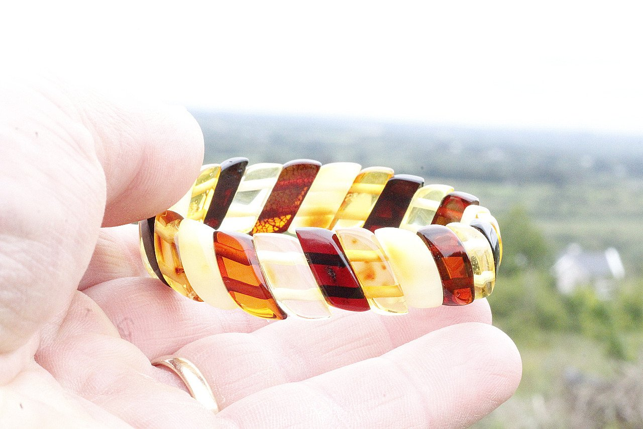 Baltic Amber Bangle - Amber SOS