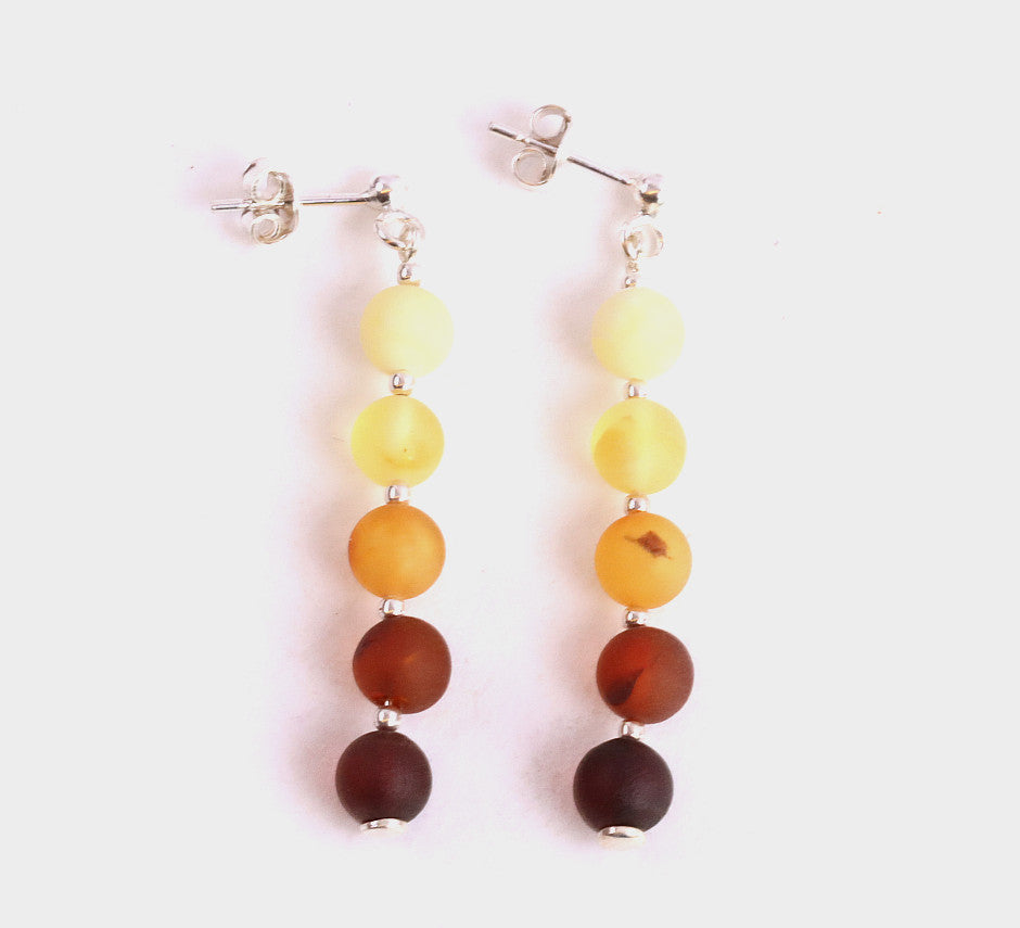 Black Friday Sale Christmas Gift Beautiful Amber Earrings