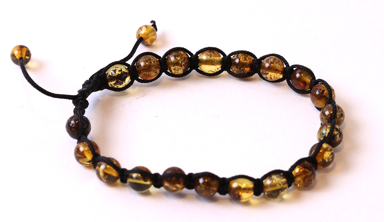 Ladies or Man Adjustable Amber Bracelet