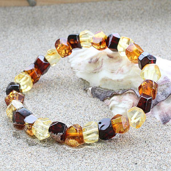 Faceted amber gemstone bracelet