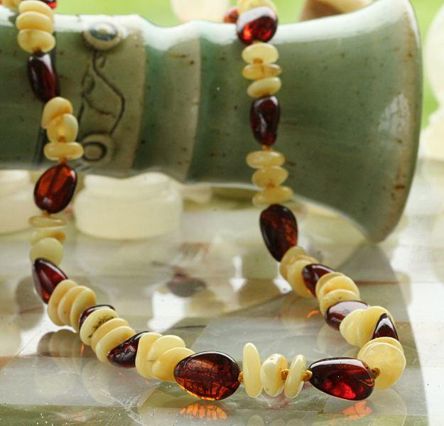Cognac and Cream Necklace - Amber SOS