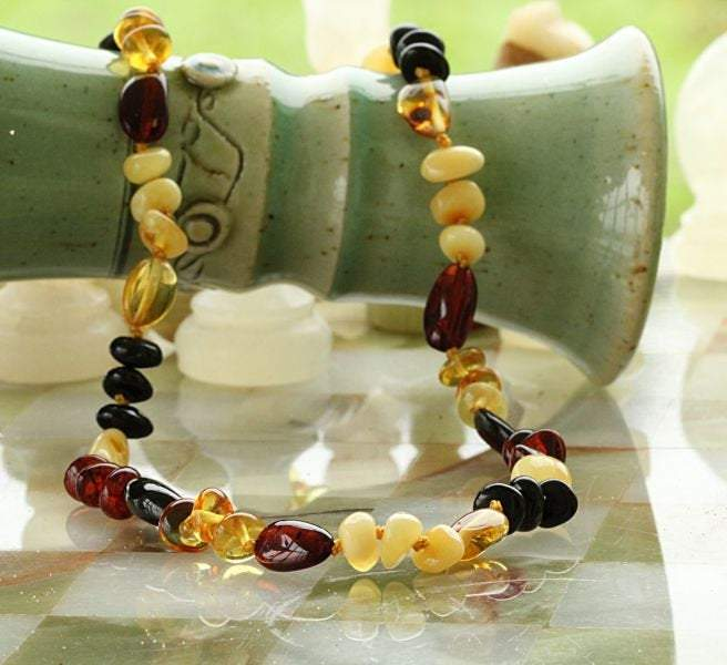 Colorful Amber Bead Necklace - Amber SOS