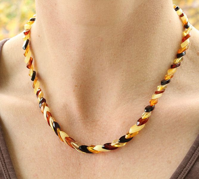 Layered Baltic Amber Necklace