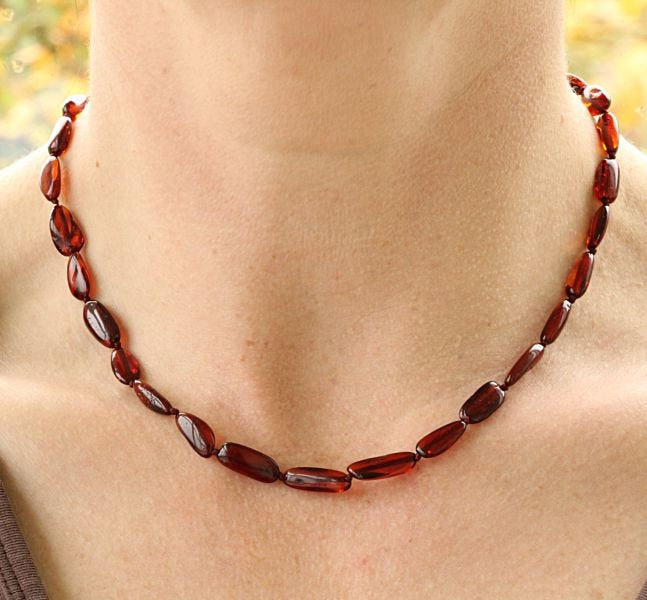 Warm Honey Amber Necklace