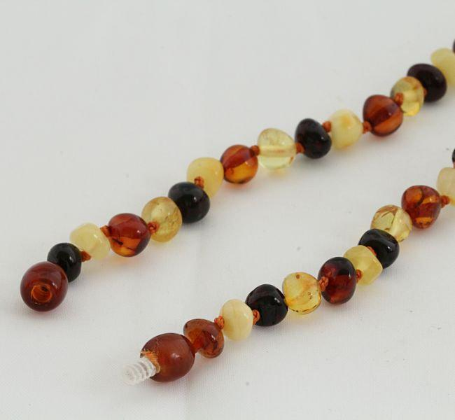 Classic Mixed Baltic Amber Bead Necklace - Amber SOS