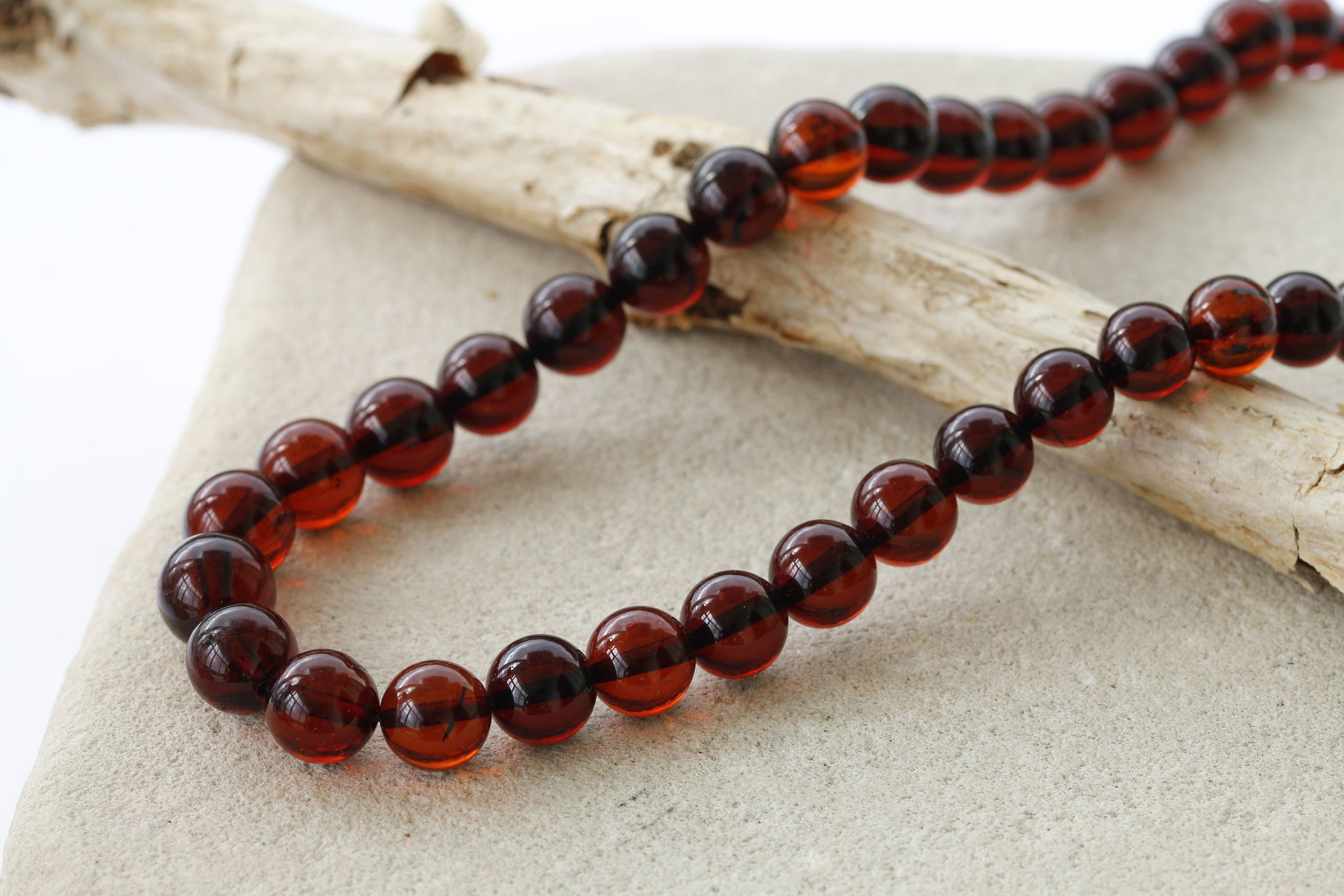 Elegant unique Red Amber Necklace - Amber SOS