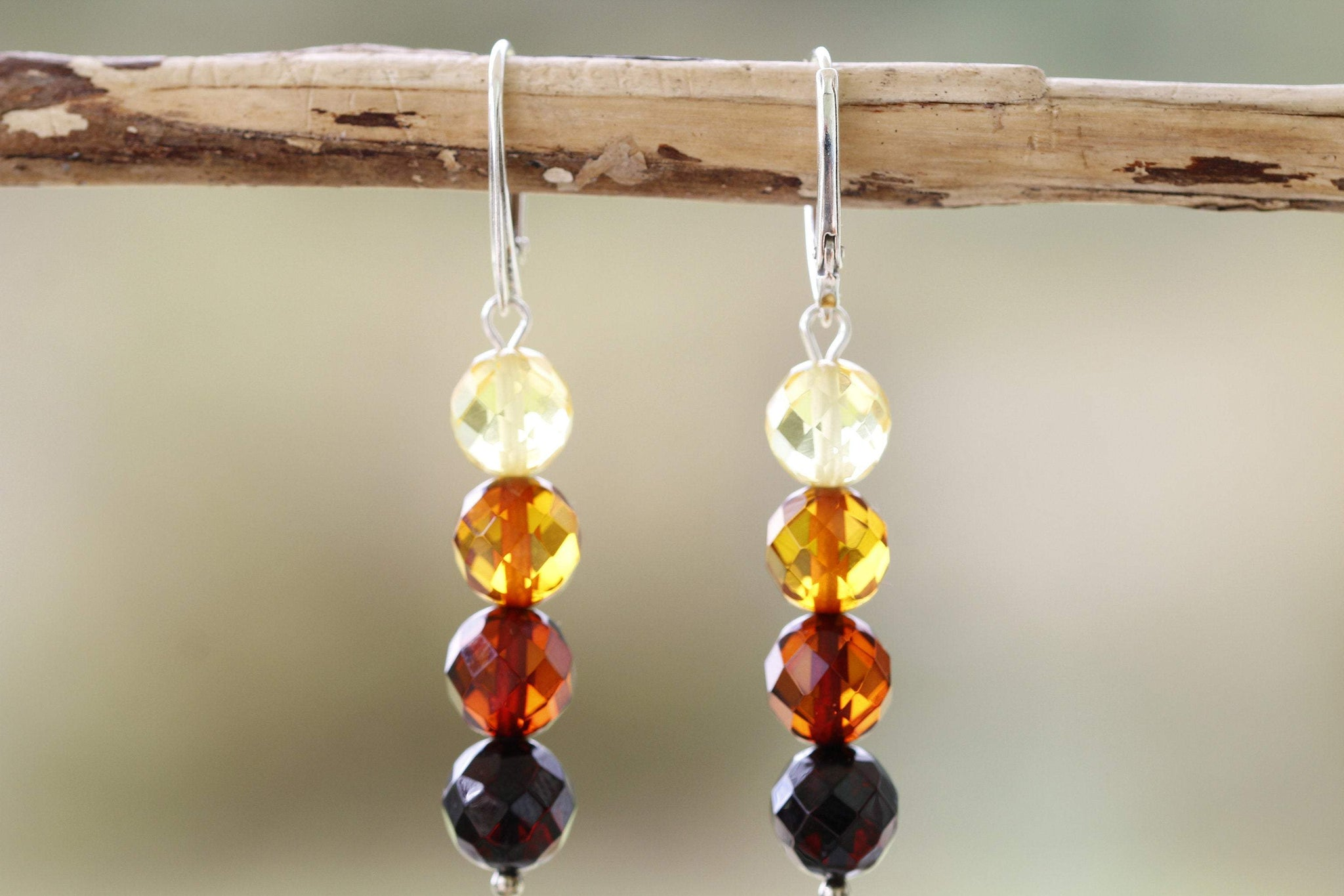 Ombré Dangle Amber Earrings - Amber SOS