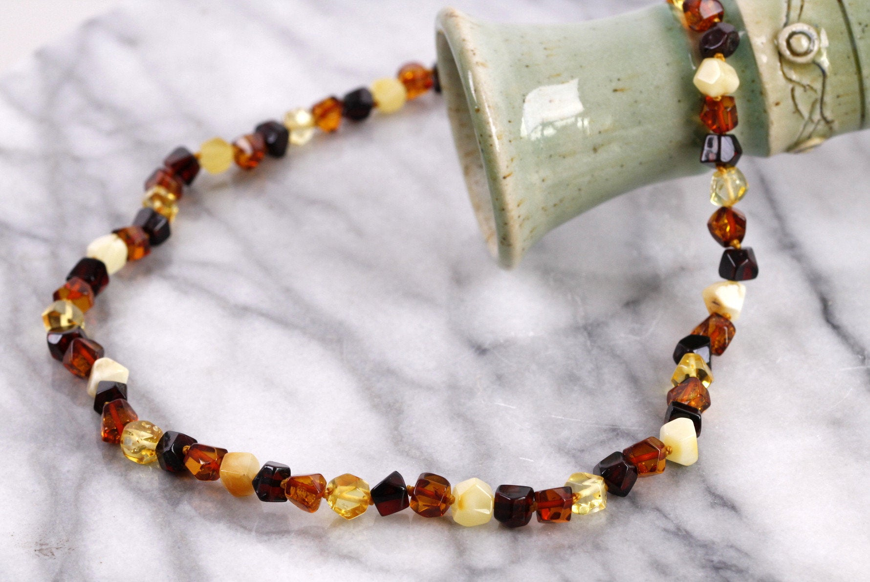 Faceted Amber Necklace - Amber SOS