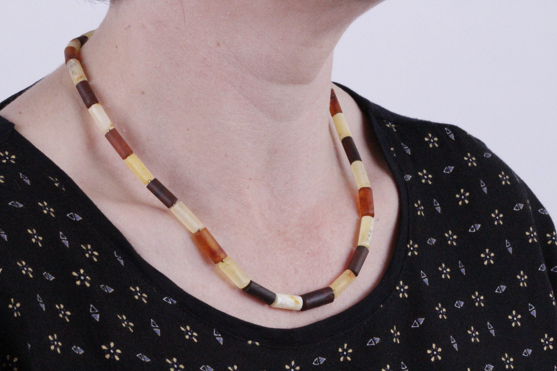 Tube Bead Eco Necklace