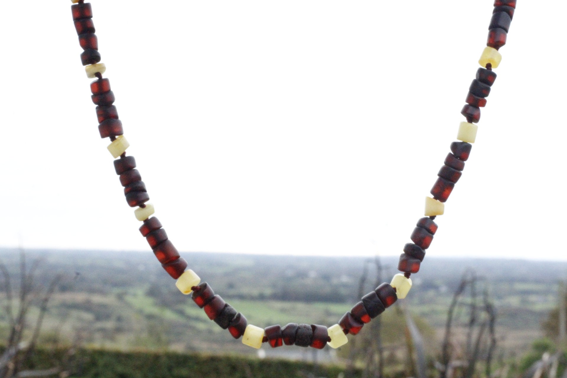 Cylinder Beads Surfer Style Necklace