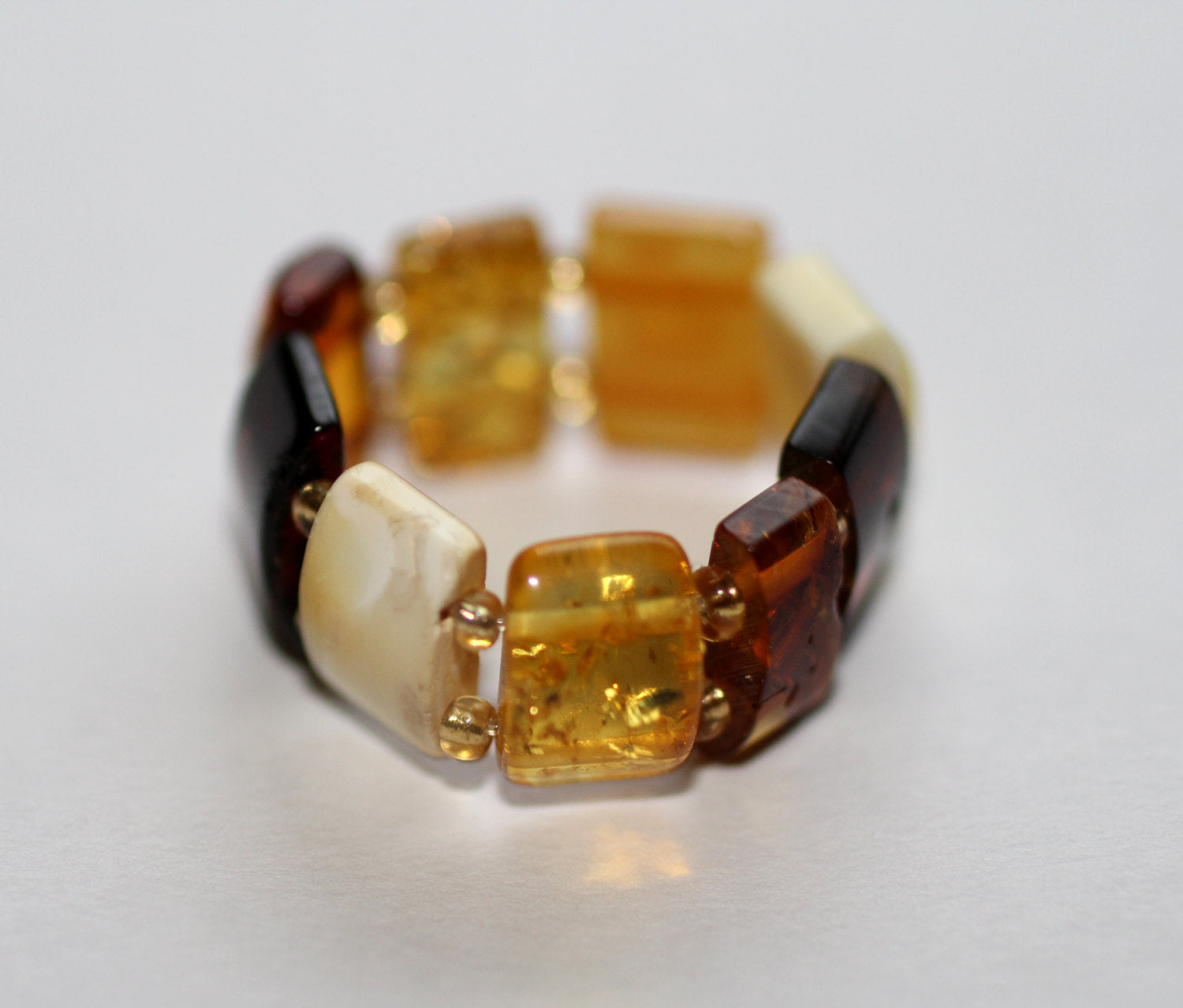 Elasticated Amber Ring