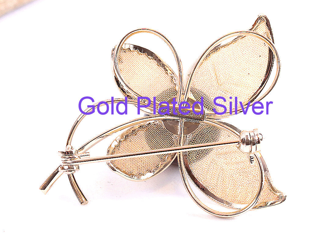Gold plated Silver Brooch Christmas Gift
