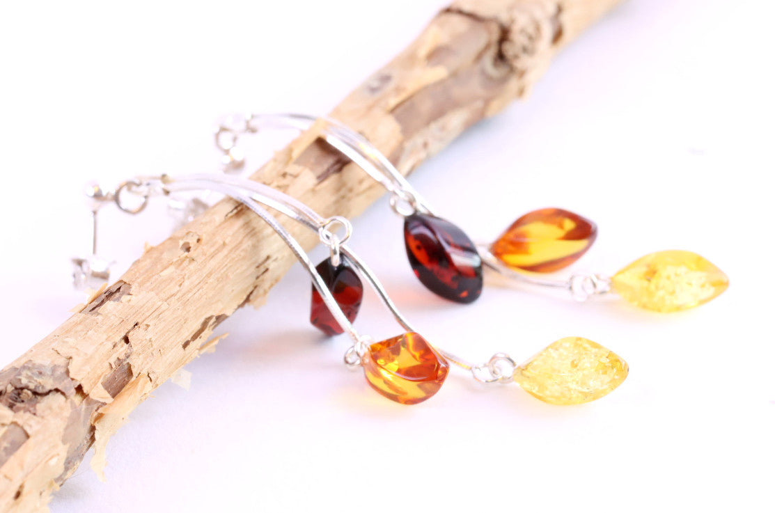 Dangling Amber Earrings