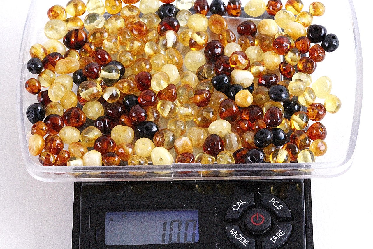 Mixed Baroque beads with holes (5mm X 5mm) Crafting Beads - Amber SOS