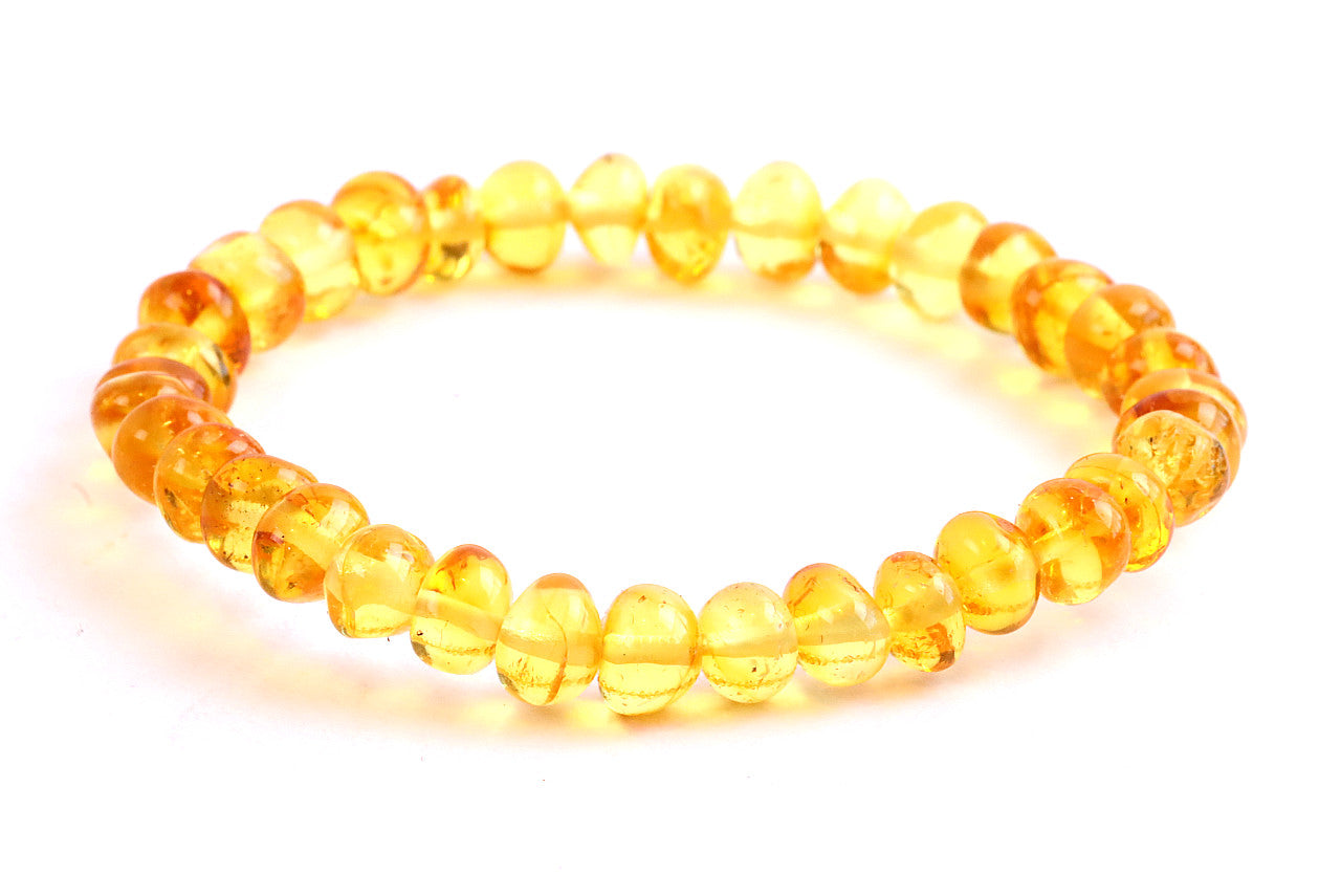 Black Friday Sale Light honey Bead Amber Adult Bracelet