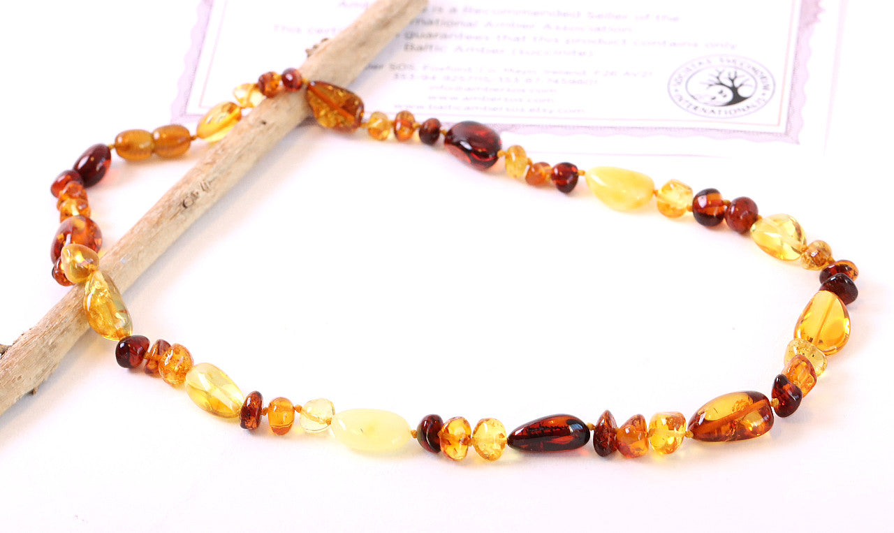 Handmade Nugget Amber Necklace