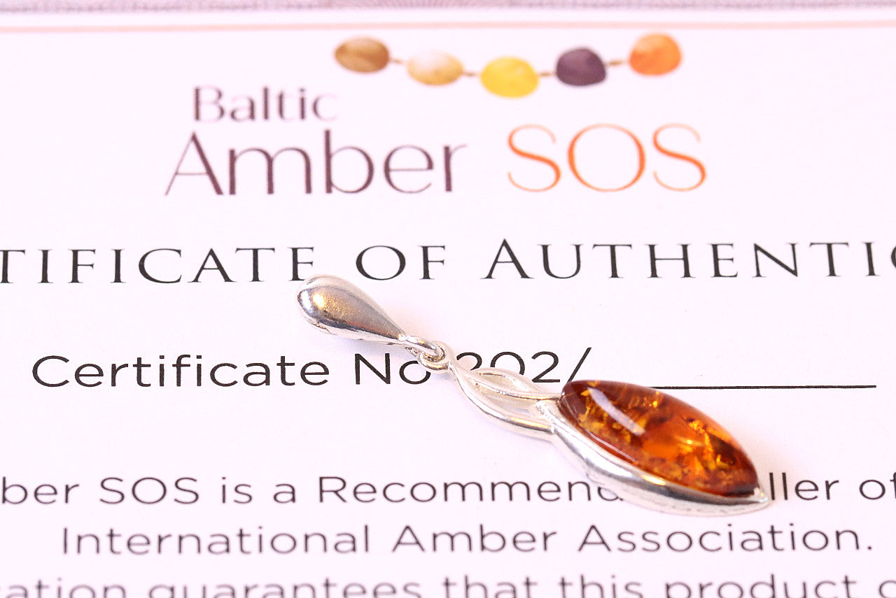 This Week Sale Dainty Amber Pendant