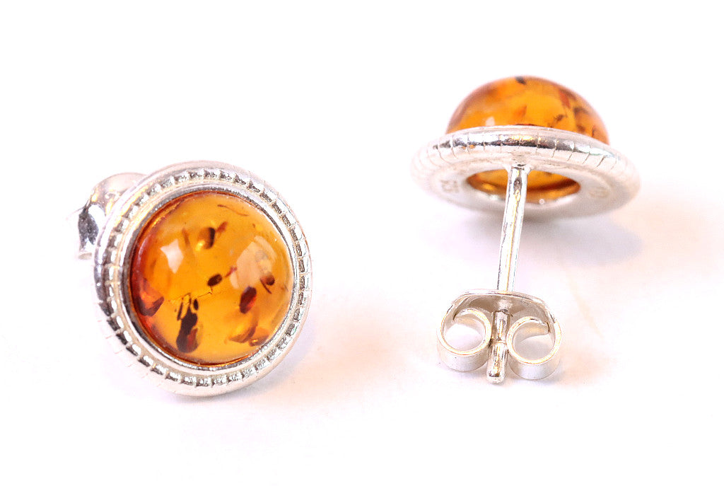 Christmas Gift Honey Gemstone Stud Earrings