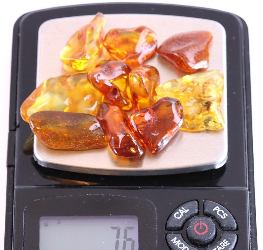 Sale 10 Piece Amber Gems