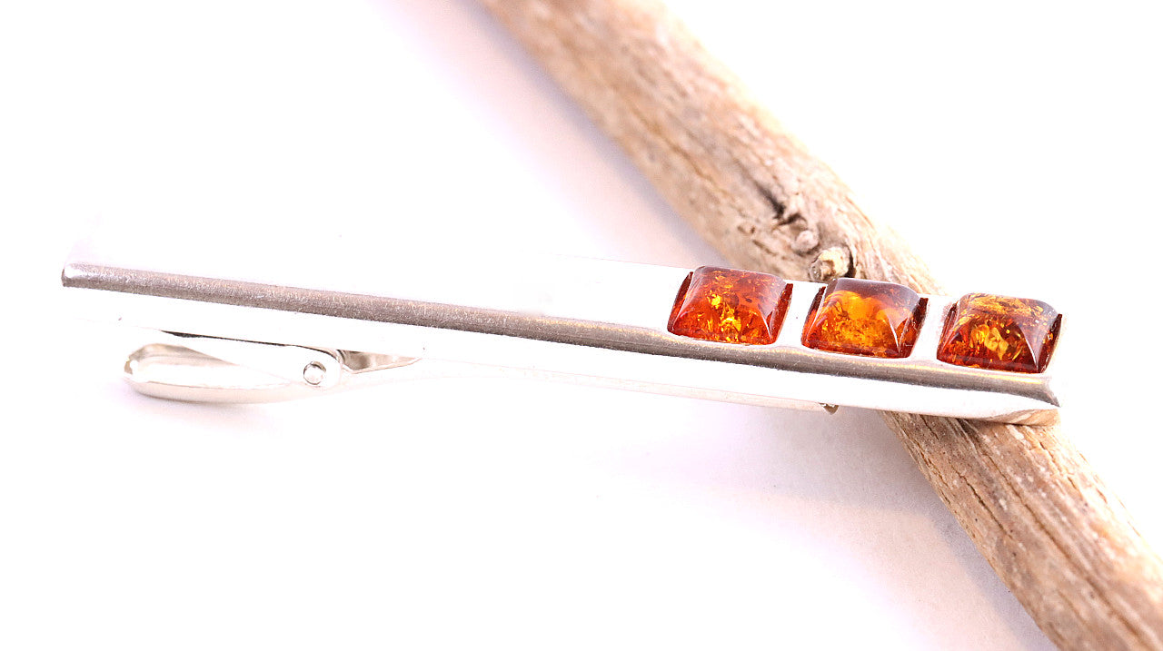 Honey Amber Tie Clip