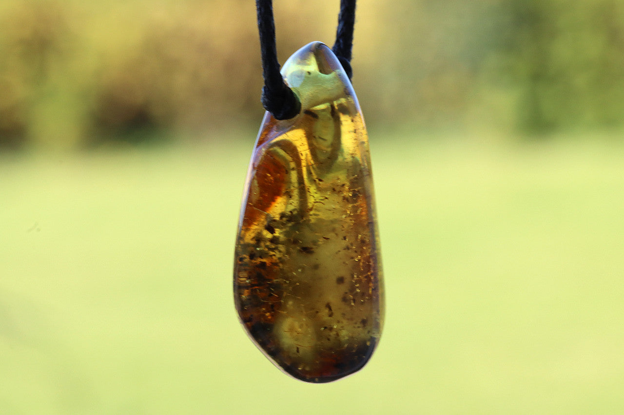 Natural Unique Eco Amber Gemstone - Amber SOS