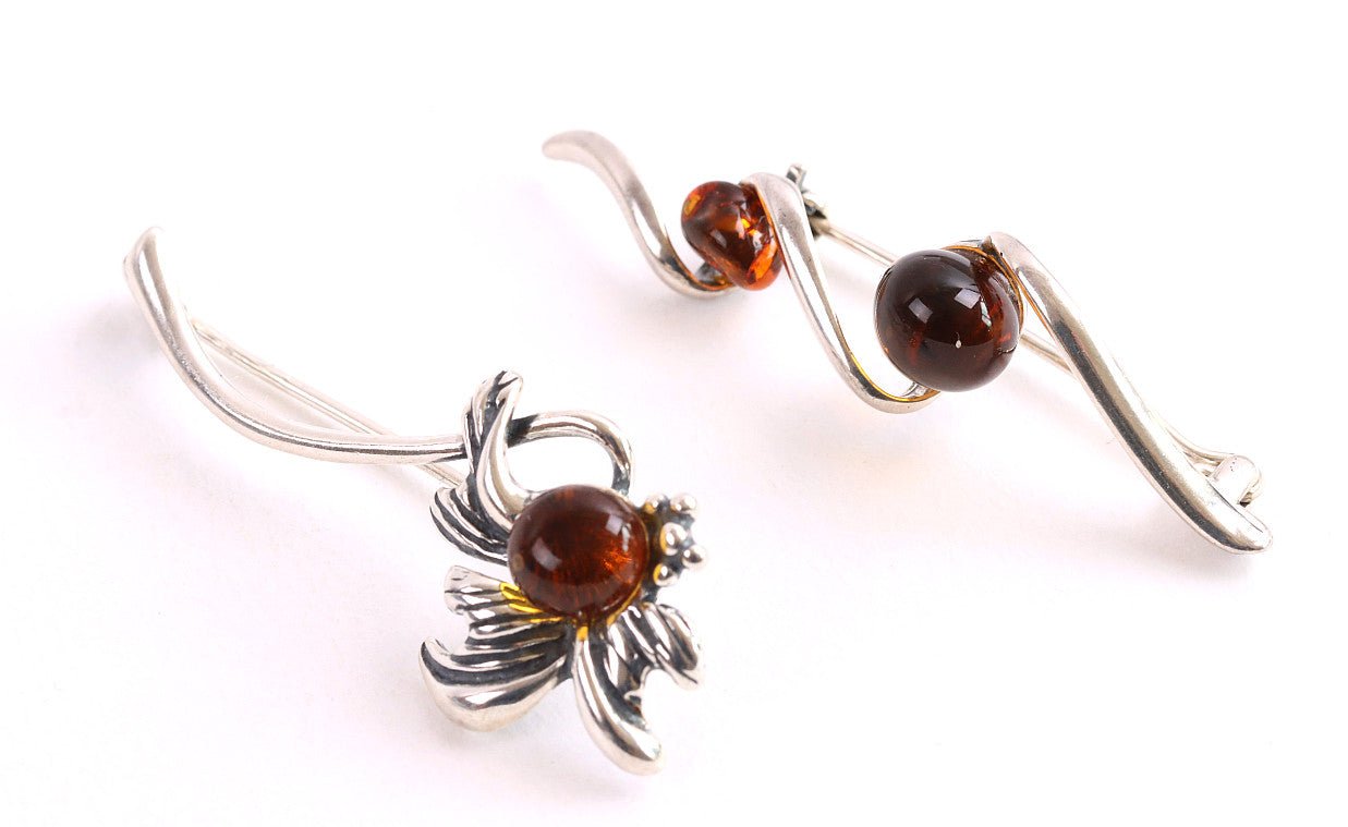 Missing your Gran 2 X  Baltic Amber Brooch Gift