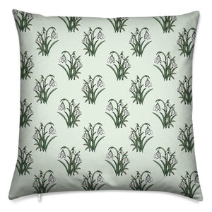 "Snowdrops Cushion 16"" Square"