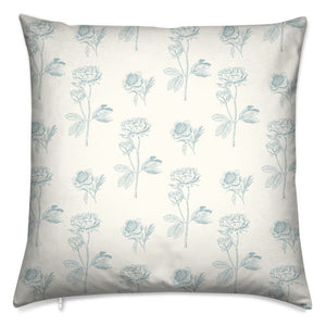 "Perfect Peonies Cushion 16"" Square"
