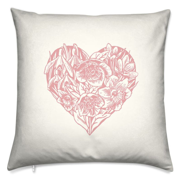 Spring Heart Cushion - Pink 16